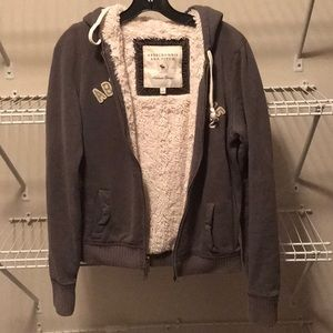 Abercrombie and Fitch faux fur lined hoodie